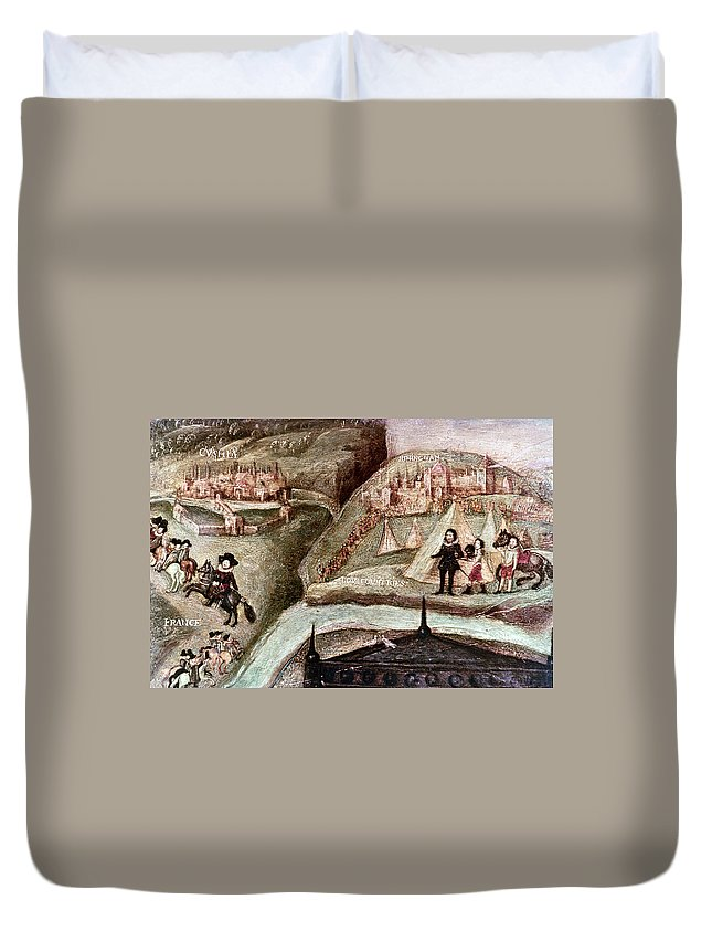 1595 Duvet Cover featuring the painting Sir Henry Unton (c1557-1596) by Granger