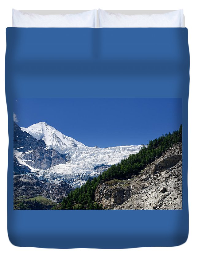 Snow Duvet Cover featuring the photograph Snow Glacier by Mats Silvan