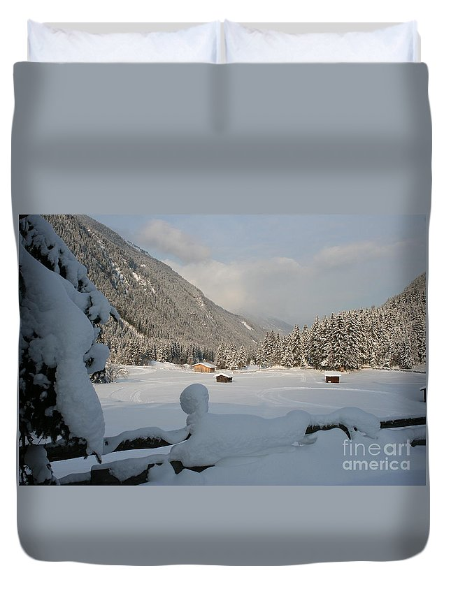 Snow Duvet Cover featuring the photograph Snowed Under by Christiane Schulze Art And Photography