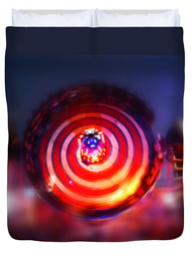 Rotor Duvet Cover featuring the painting Spinning Top by Charles Stuart