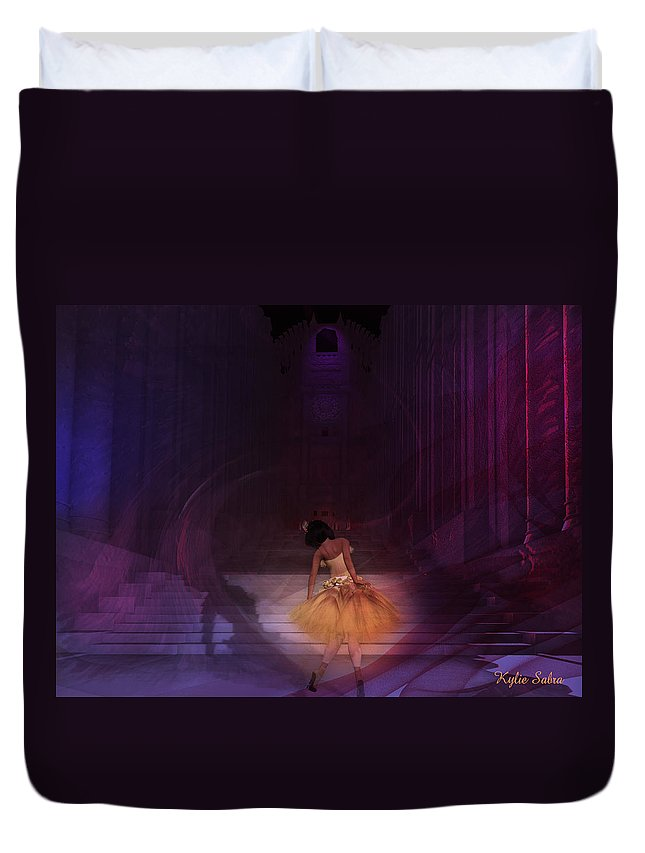 Dance Duvet Cover featuring the digital art Spiritual Vortex by Kylie Sabra