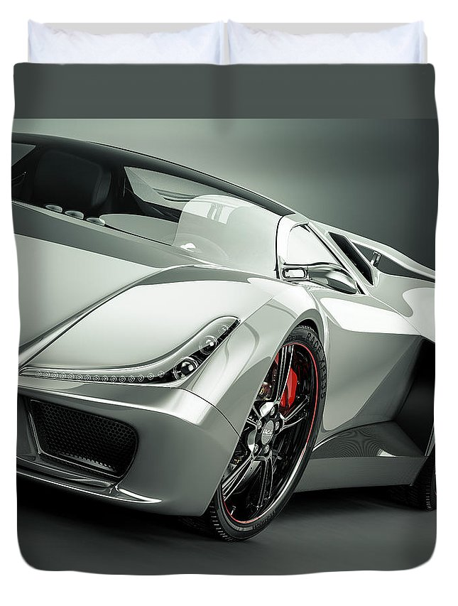 Aerodynamic Duvet Cover featuring the photograph Sports Car by Mevans