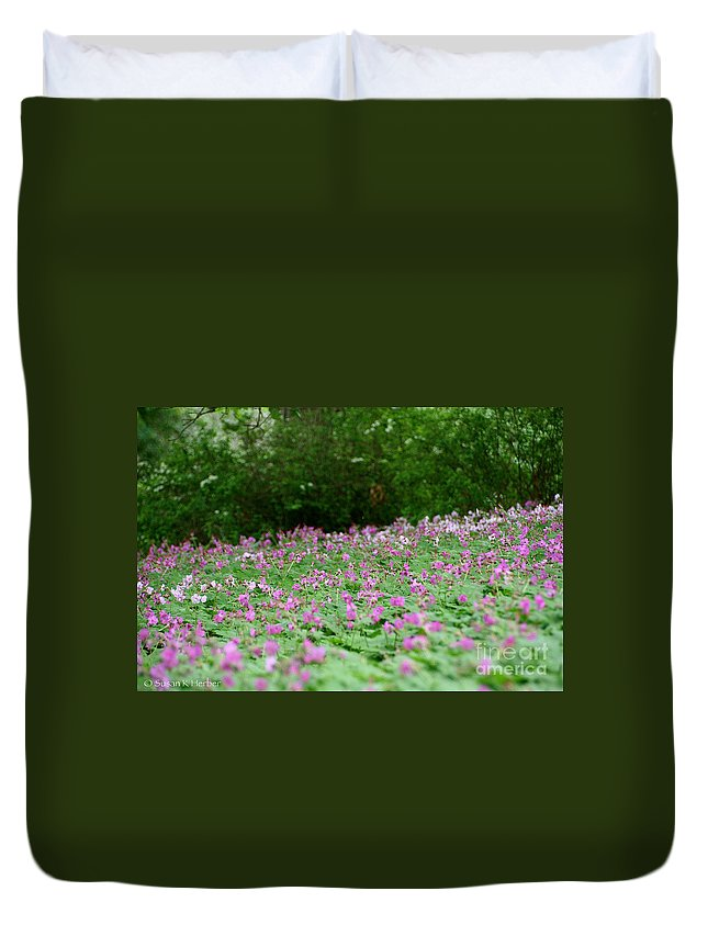 Flower Duvet Cover featuring the photograph Spring Meadow by Susan Herber