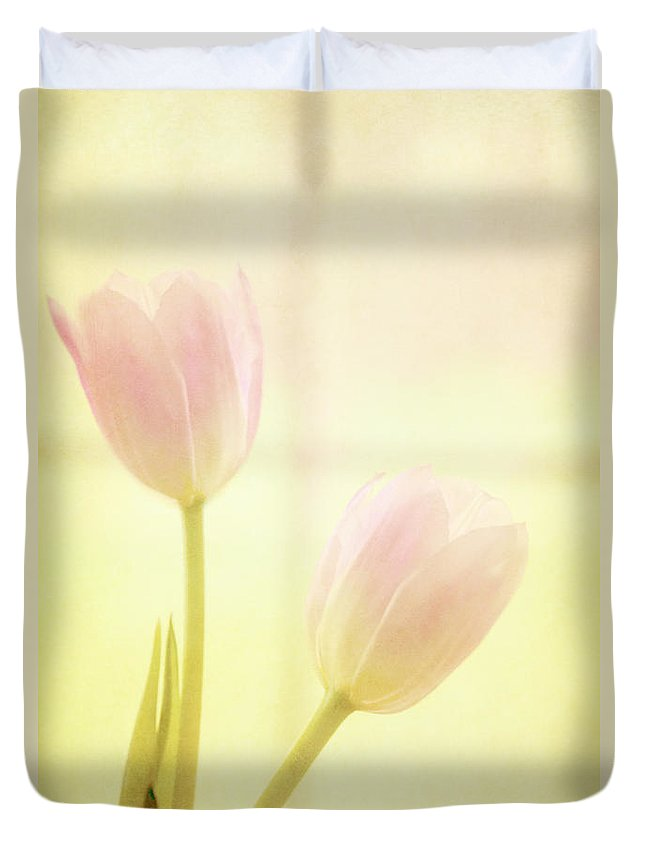 Yellow Duvet Cover featuring the photograph Springtime by Margie Hurwich