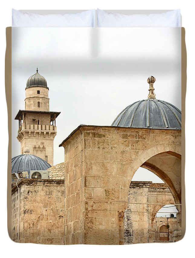 Dome Of The Rock Duvet Cover featuring the photograph Standing Still by Munir Alawi