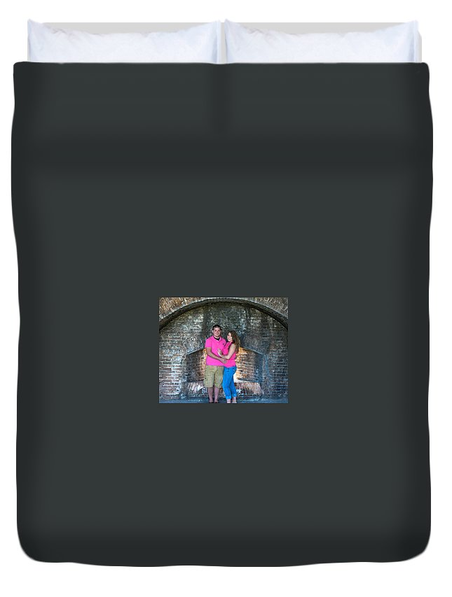 Portraits Duvet Cover featuring the photograph Stearns 2 by Mechala Matthews