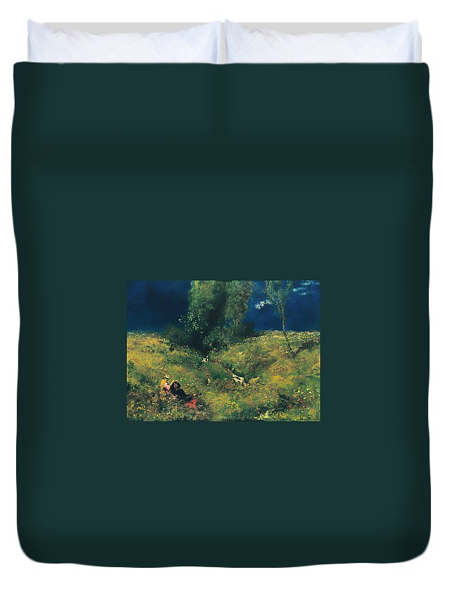 Painting Duvet Cover featuring the painting Summer by Mountain Dreams