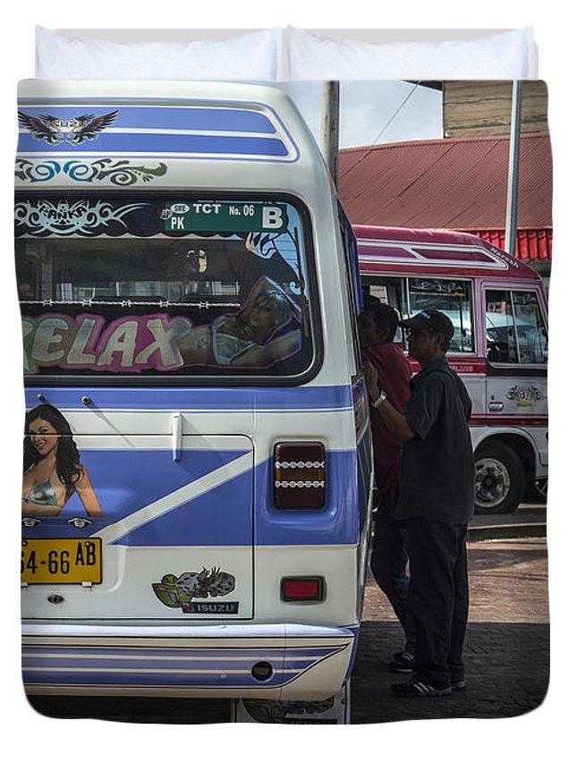 Street Duvet Cover featuring the photograph Surinam Paramaribo by Srdjan Petrovic