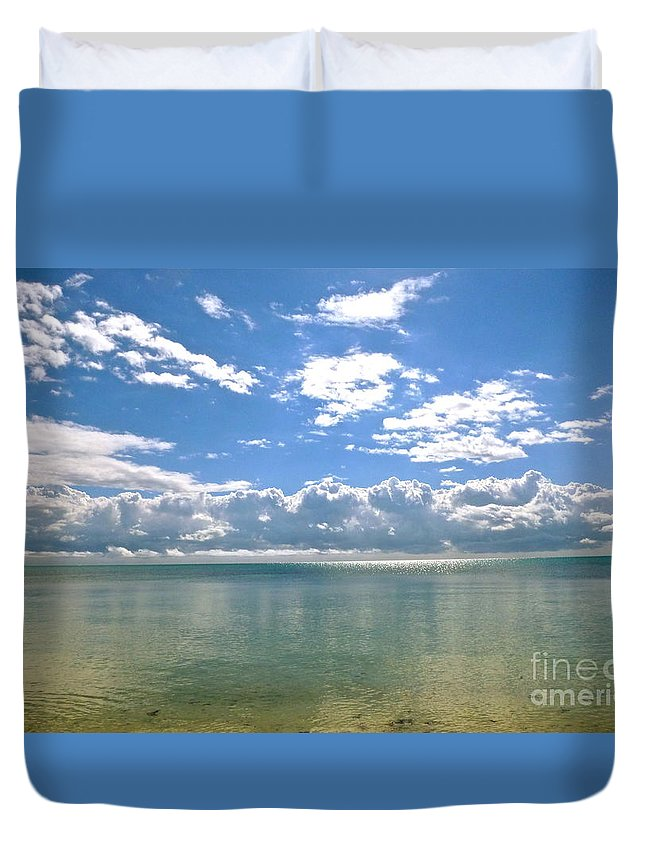 Clouds Duvet Cover featuring the photograph Taking Your Breath Away by Lib Sargent