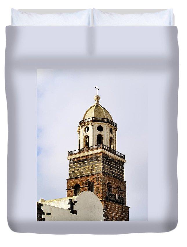 Lanzarote Duvet Cover featuring the photograph Teguise On Lanzarote by Karol Kozlowski