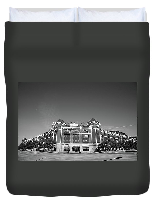 America Duvet Cover featuring the photograph Texas Rangers Ballpark In Arlington by Frank Romeo