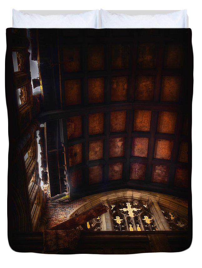 Church Duvet Cover featuring the photograph The Balcony by Margie Hurwich