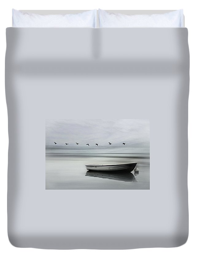 Boat Duvet Cover featuring the photograph The Boat by Heike Hultsch
