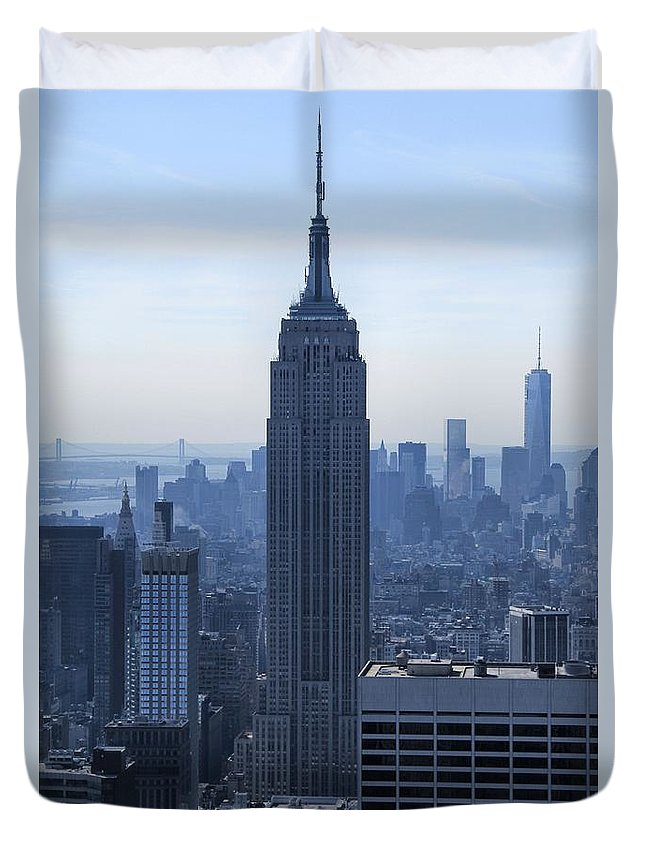 The Empire State Building Duvet Cover featuring the photograph The Empire State Building by Dan Sproul