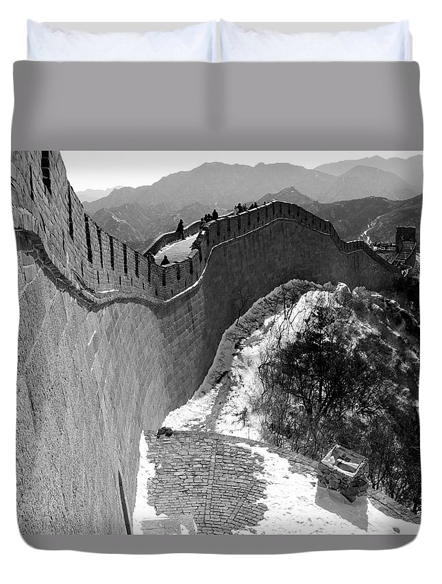 China Duvet Cover featuring the photograph The Great Wall Of China by Sebastian Musial