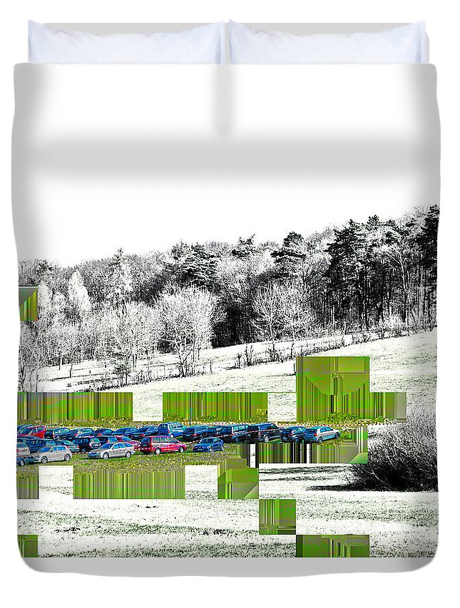 Abstract Duvet Cover featuring the photograph The Intrusion by Rabiri Us