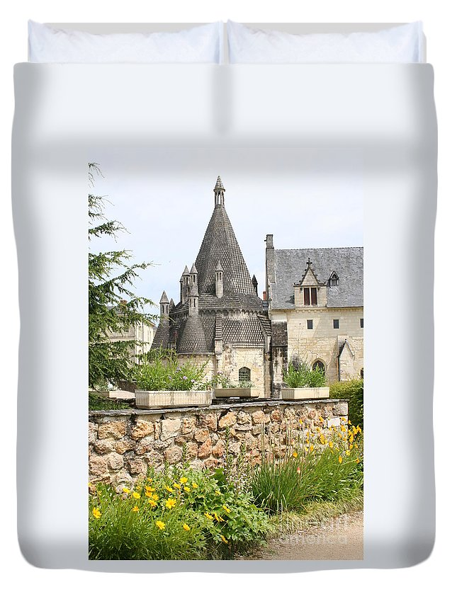 Kitchen Duvet Cover featuring the photograph The Kitchenbuilding Of Abbey Fontevraud by Christiane Schulze Art And Photography