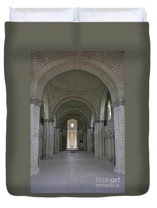 Nave Duvet Cover featuring the photograph The Nave - Cloister Fontevraud by Christiane Schulze Art And Photography