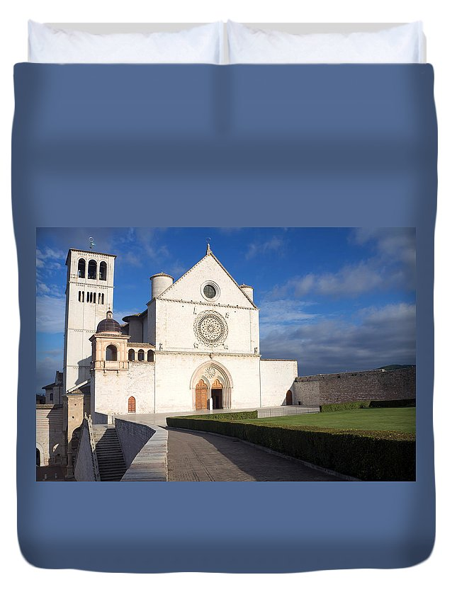 Landmark Duvet Cover featuring the photograph The Papal Basilica Of St. Francis Of Assisi by Jaroslav Frank