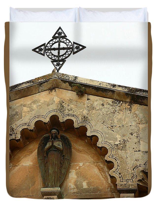 Prayer Duvet Cover featuring the photograph The Prayer by Munir Alawi