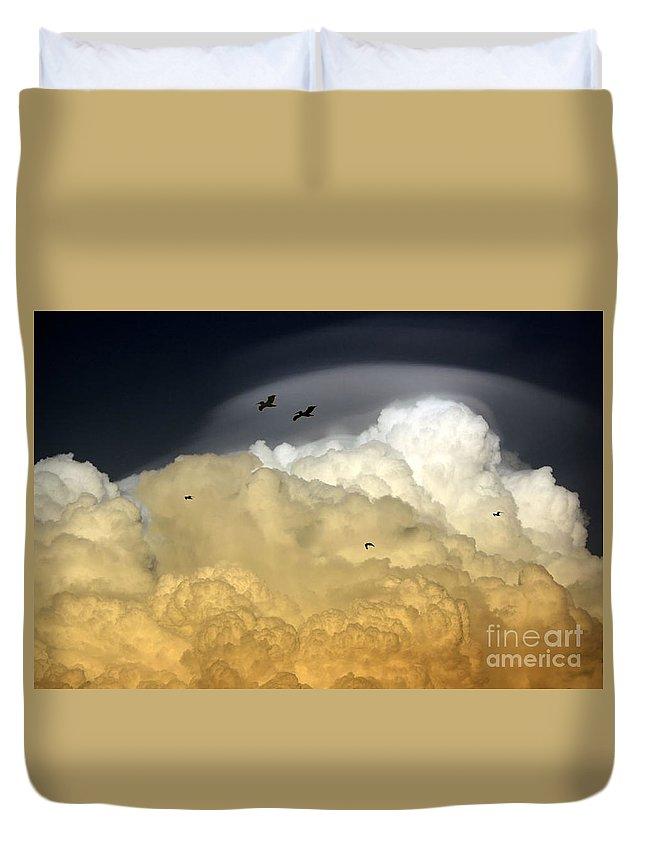 Sky Duvet Cover featuring the photograph The Sky by Irina Davis