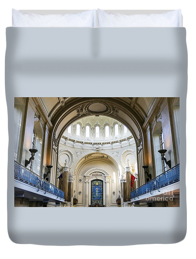 America Duvet Cover featuring the photograph The United States Naval Academy Chapel by John Greim