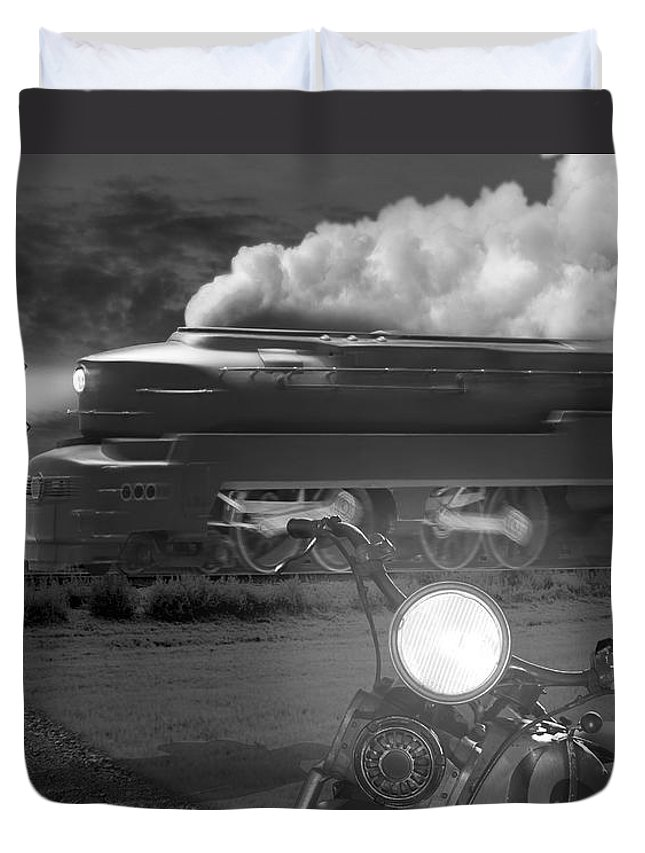 Transportation Duvet Cover featuring the photograph The Wait by Mike McGlothlen