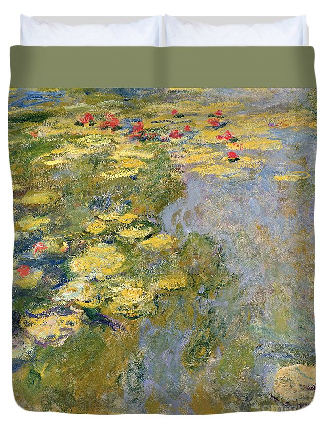 Impressionist Duvet Cover featuring the painting The Waterlily Pond by Claude Monet