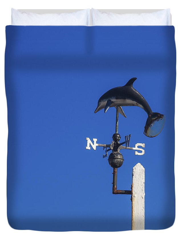 Weather Vane Duvet Cover featuring the photograph The Way The Wind Blows by Diane Macdonald
