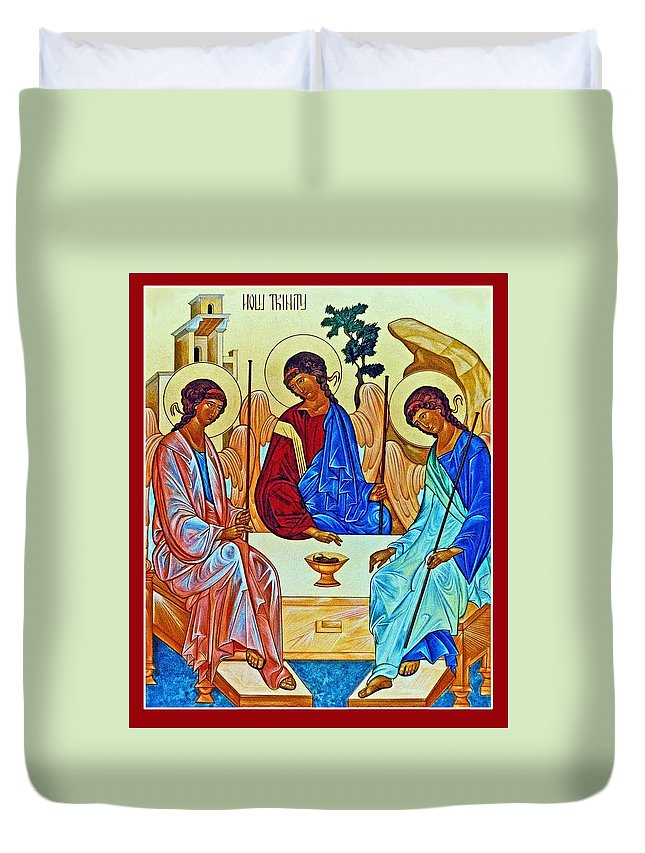 Three Duvet Cover featuring the photograph Three Angels by Munir Alawi