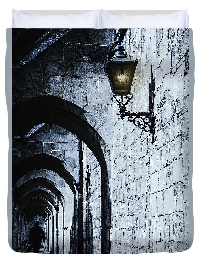 Place Duvet Cover featuring the photograph Through The Arches by Margie Hurwich