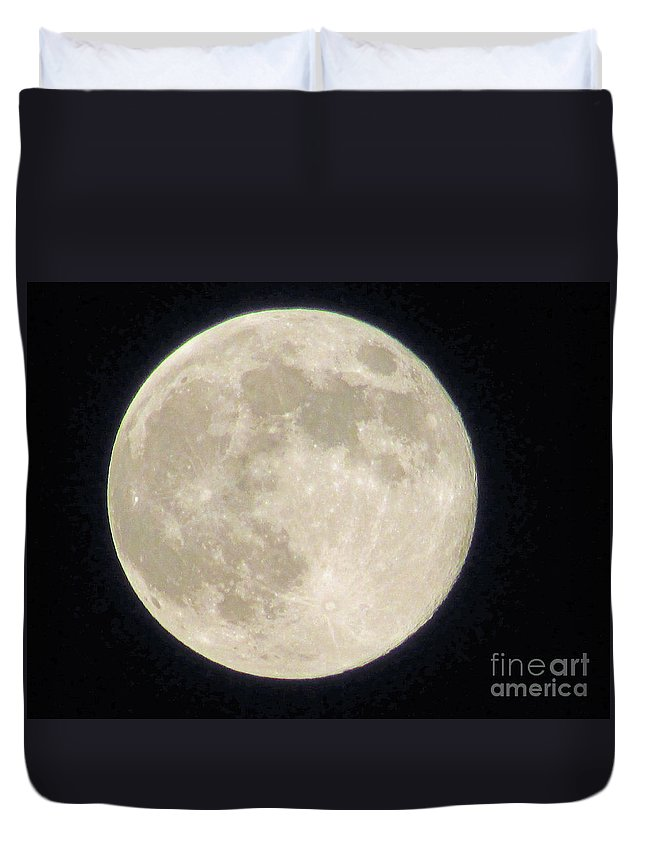 Moon Duvet Cover featuring the photograph Thunder Moon by Jamie Smith