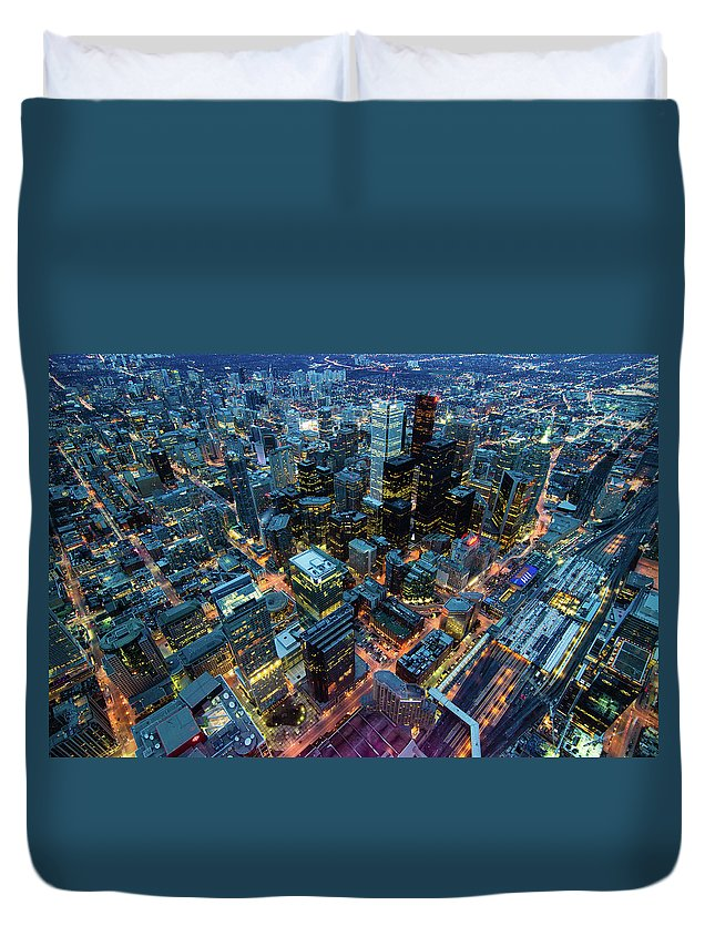Toronto Duvet Cover featuring the photograph Toronto by Naeem Jaffer