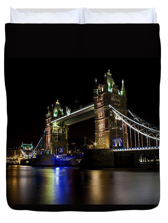 Tower Duvet Cover featuring the photograph Tower Bridge by Martin Newman