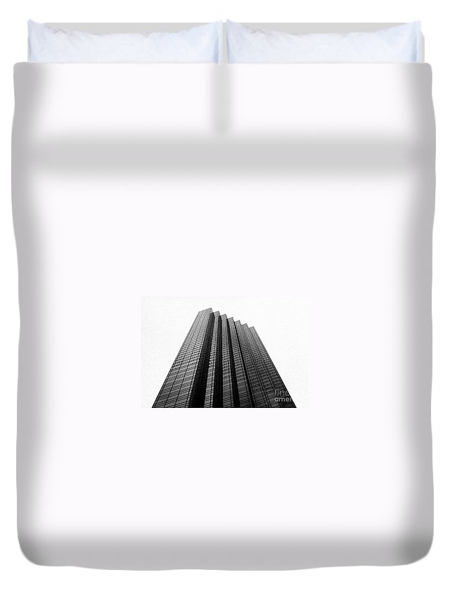 Analog Duvet Cover featuring the photograph Tower by Jannis Werner