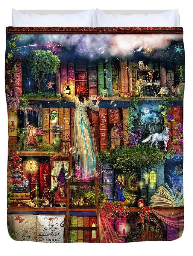 Shelves Digital Art Duvet Covers