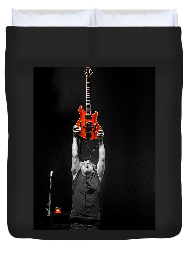 Phish Duvet Cover featuring the photograph First Tube by David Powell