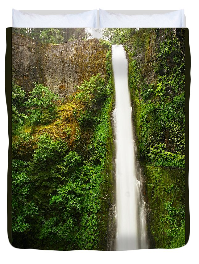 Tunnel Falls Duvet Cover featuring the photograph Tunnel Falls by Jeff Swan