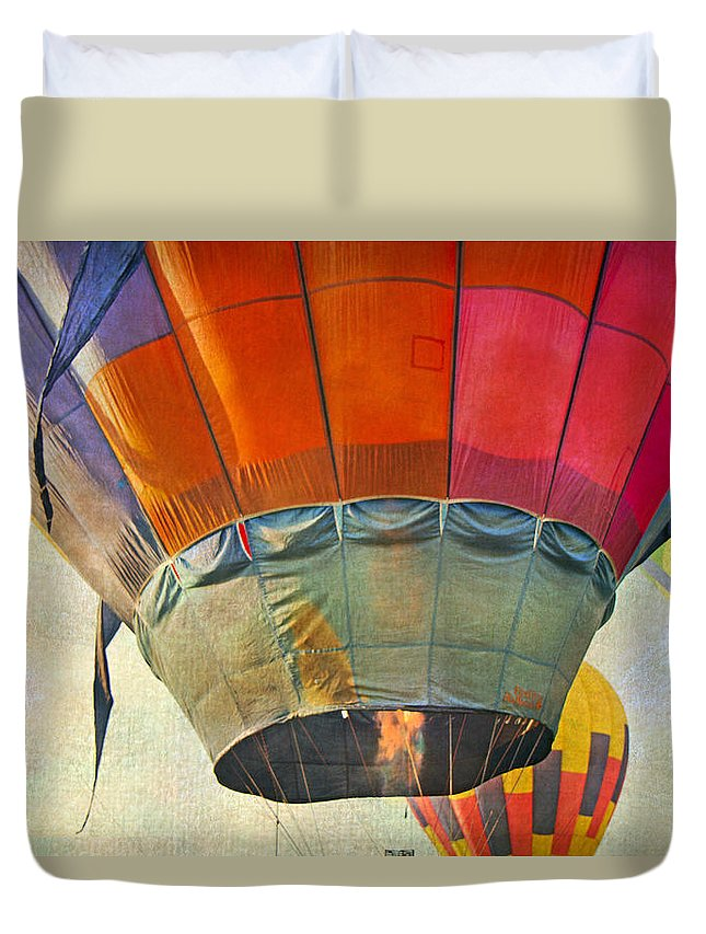 Balloon Duvet Cover featuring the photograph Uplifting by Betsy Knapp