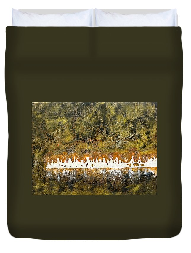 Urban Duvet Cover featuring the painting Urban Omega by Joel Tesch