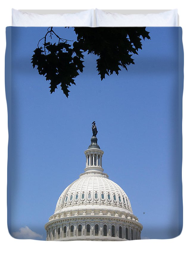 America Duvet Cover featuring the photograph U.s. Capitol by Gaurav Singh