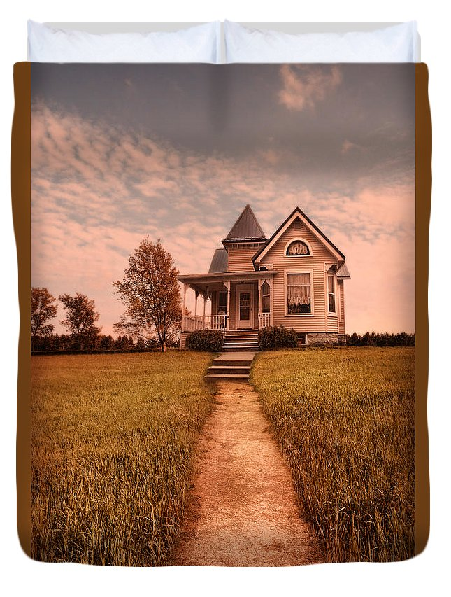 House Duvet Cover featuring the photograph Victorian House by Jill Battaglia