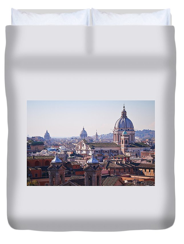 Lehto Duvet Cover featuring the photograph View Of Rome 2013 by Jouko Lehto