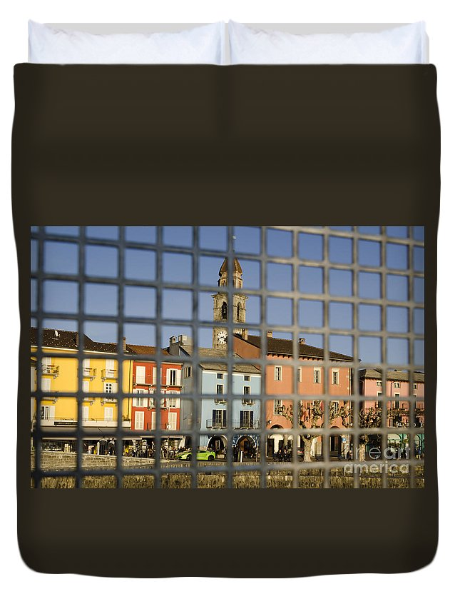 Village Duvet Cover featuring the photograph Village by Mats Silvan
