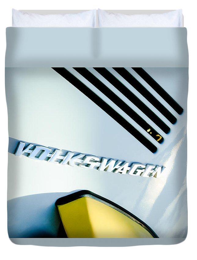 Volkswagen Vw Emblem Duvet Cover featuring the photograph Volkswagen Vw Emblem by Jill Reger