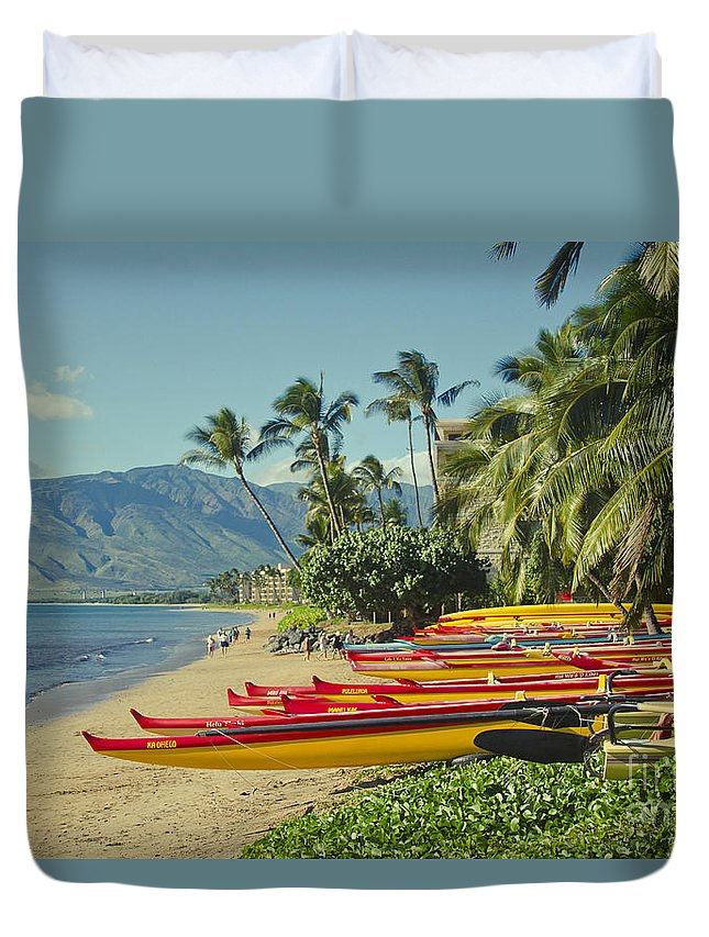 Kenolio Beach Duvet Cover featuring the photograph Kenolio Beach Sugar Beach Kihei Maui Hawaii by Sharon Mau