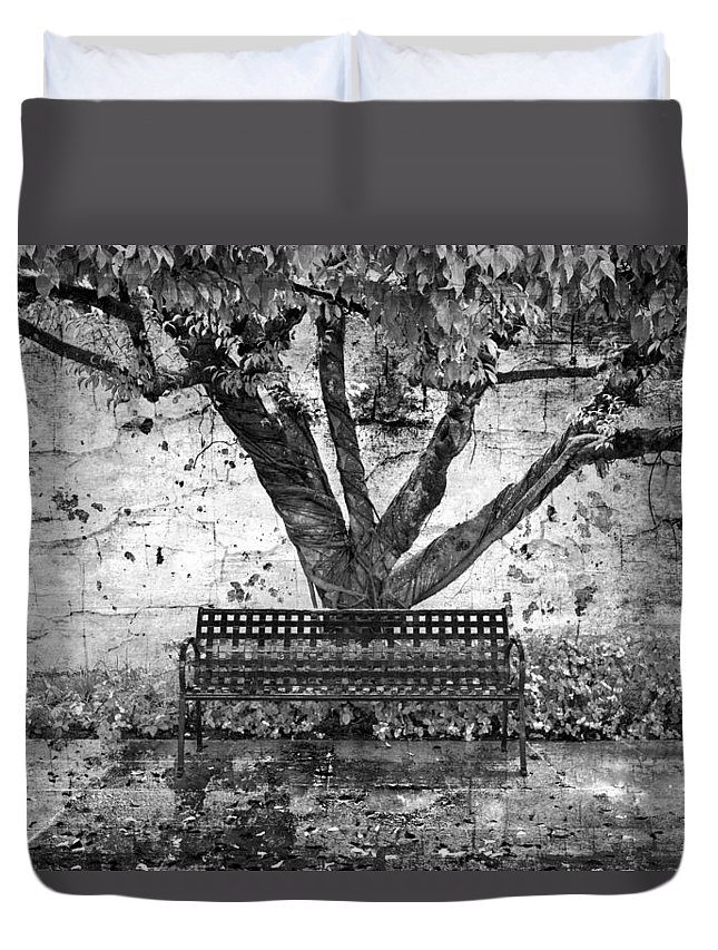 Fall Duvet Cover featuring the photograph Waiting For You by Debra and Dave Vanderlaan