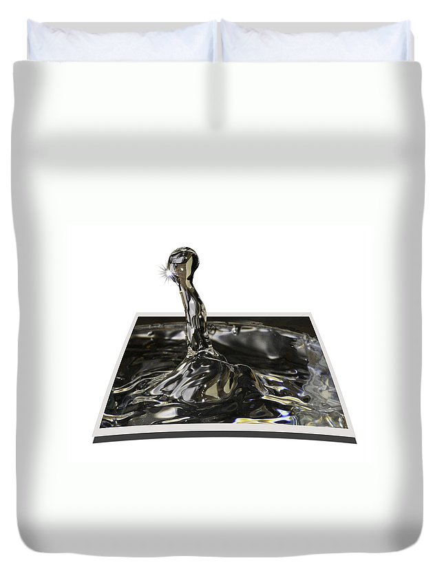 Water Duvet Cover featuring the photograph Water Droplet by James Ekstrom