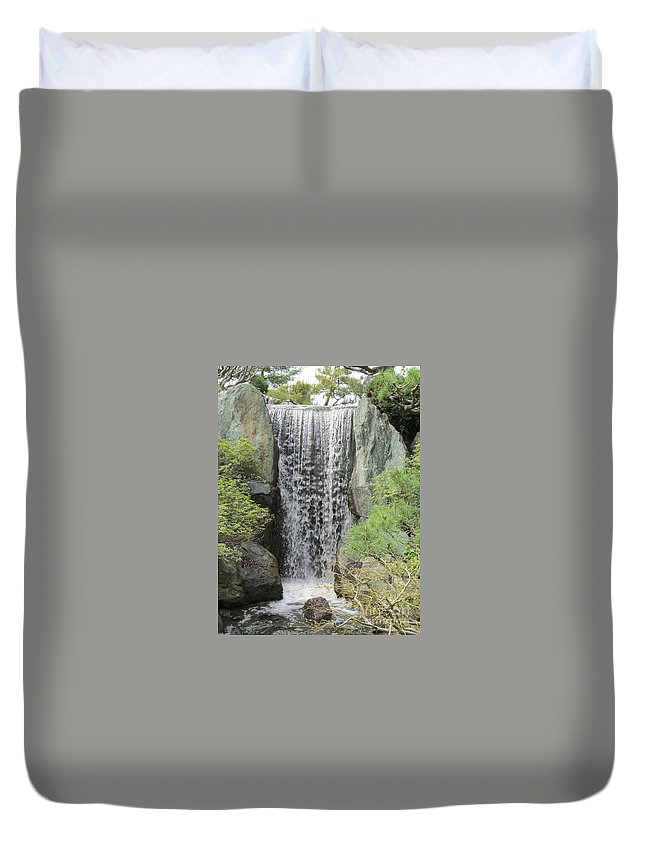 Scene Duvet Cover featuring the photograph Waterfall by Jamie Smith