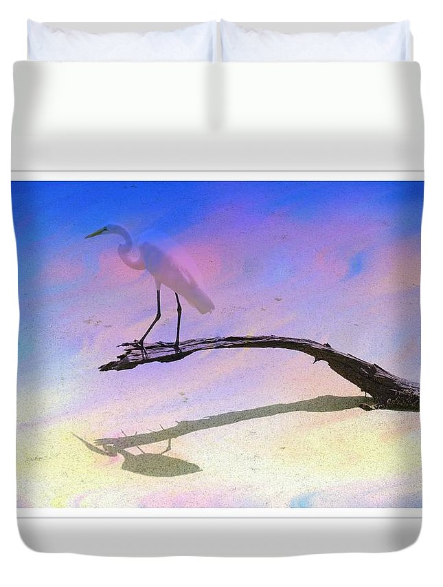 White Bird Duvet Cover featuring the photograph White Bird by Alice Gipson